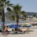 Stranden i Calpe centrum